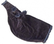 GPC-1030f. Velvet Bagpipe Cover, 28x11 inches, matching fringe with zip.