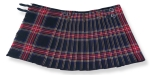Black Stewart Tartan, Hand made, 8 yards on material, 70% wool 30% synthetic wool,