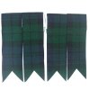GPC-1070a. Kilt Flashes, Black Watch Tartan, per pair