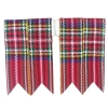 GPC-1070b. Kilt Flashes, Royal Stewart Tartan, per pair