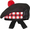 Highland Balmorals, Diced, black color, red, black & white dicing with red or black pom pom,   any size