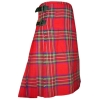 Royal Stewart Tartan, Hand made, 8 yards on material, 70% wool 30% synthetic wool,