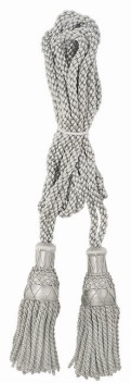 Silver Bagpipe Silky Cords,