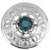 GPC-2083.  Plaid Brooches, Thistle with Any color of stone Made of metal alloy 3 1/8 inches in diameter