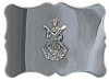 Plain chrome buckle with St. Andrew's emblem