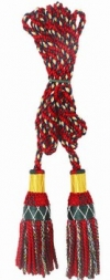 Bagpipe Drone Cords, 100% silky hand made, Royal Stewart Tartan pattern.