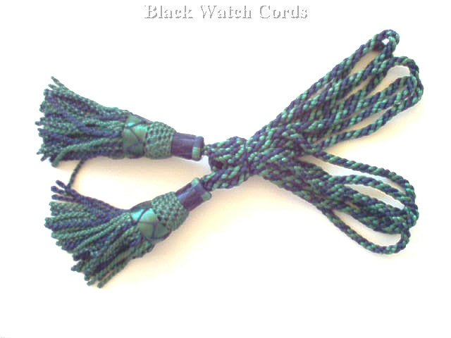 Silky Bagpipe Drone Cords, Black Watch Patterns