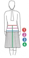 Ladies Kilts size Chart/measurement