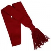 GPC-1099.  Shoulder Sash, Red or Black color made of wool